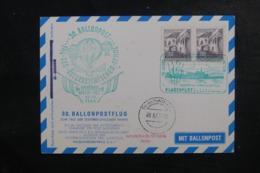 AUTRICHE - Carte Par Ballon En 1963, Affranchissement Et Cachets Plaisants - L 44518 - Ballonpost