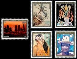 POLYNESIE 1974 - Yv. PA 84 85 86 87 Et 88 ** SUP  Cote= 235,00 EUR - Tableaux D'Artistes Polyn. (5 Val.)  ..Réf.POL24397 - Poste Aérienne