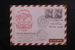 AUTRICHE - Carte Par Ballon En 1963, Affranchissement Et Cachets Plaisants - L 44520 - Ballonpost