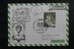 AUTRICHE - Enveloppe Par Ballon En 1968, Affranchissement Et Cachets Plaisants - L 44521 - Ballonpost