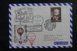 AUTRICHE - Enveloppe Par Ballon En 1968, Affranchissement Et Cachets Plaisants - L 44522 - Ballonpost