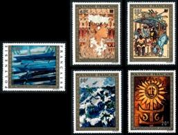 POLYNESIE 1973 - Yv. PA 77 78 79 80 Et 81 **   Cote= 110,00 EUR - Tableaux D'Artistes Polyn. (5 Val.)  ..Réf.POL24394 - Poste Aérienne