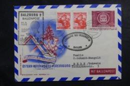 AUTRICHE - Entier Postal + Compléments Par Ballon En 1950, Affranchissement Et Cachets Plaisants - L 44524 - Ballonpost