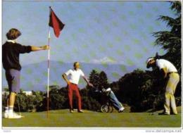 Carte Postale   01.  Divonne-les-Bains  Le Golf Et Le Mont-Blanc - Divonne Les Bains