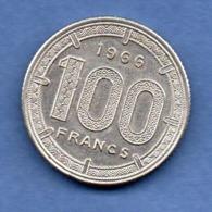 Afrique Equatoriale  -  100 Francs 1966   -  état  SUP - Colonie