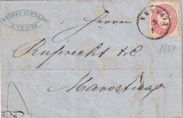 ITALIE 1864 LETTRE DE VENEZIA - 1861-78 Vittorio Emanuele II