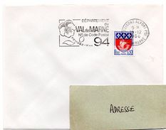 VAL De MARNE - Dépt N° 94  MAISONS ALFORT Ppal 1966 = FLAMME Codée = SECAP  ' N° De CODE POSTAL / PENSEZ-Y ' - Postleitzahl
