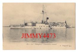 """CPA - Le """" Phlègéton """" Canonnière Cuirassé - N° 425 - Edit. A. Bougault - Warships"""