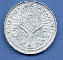 Côtes Des Somalis  -  5 Francs 1959   -  état  TTB+ - Colonias