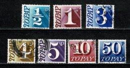 GB 1970-71  Yv. 73/74, 76/79, 81, SG D77/78, D80/83, D85 (o) Used - Taxes