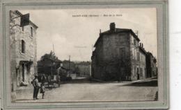 CPA - SAINT-UZE (26) - Aspect Du Carrefour De La Rue De La Mairie Et De La Rue De La Gare Au Début Du Siècle - Autres Communes