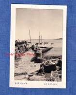 Photo Ancienne Snapshot - Archipel Des GLENAN - La Jetée - Port - Ile De Glénans - Bretagne Fouesnant Bateau De Pêche - Bateaux