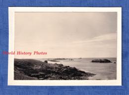 Photo Ancienne Snapshot - Archipel Des GLENAN - Bord De Mer - Bretagne Fouesnant Finistère Ile Des Glenans - Bateaux