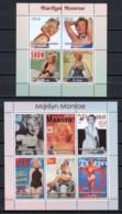 Congo 2003 - 2 MNH Sheets MARILYN MONROE - Actores