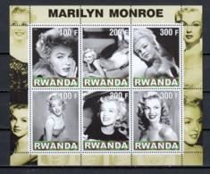 Rwanda 2000 - MNH Sheet MARILYN MONROE - Actors