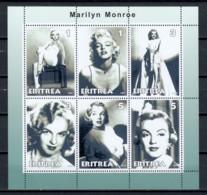 Eritrea 2001 - MNH Sheet MARILYN MONROE - Actors