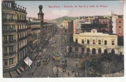 Espagne - CAT - Barcelona - Estacion De Sarria Y Calle De Pelayo - Barcelona