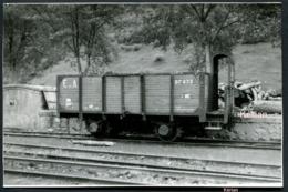 Espagne Photo (Cliché Vincent) - Ferrocarril Ecos Asturias - Wagon Tombereau - Année 1961 - Materiaal