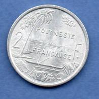Polynésie Française  -  2 Franc  1975  -  état  SPL - Polinesia Francese