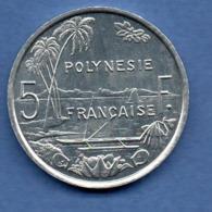 Polynésie Française  -  5 Franc  1987  -  état  SPL - Polinesia Francese