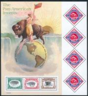 USA Kleinbogen Pan-American Inverts UNITED POST SERVICES Block Mi.-Nr.57 2000 RARE - Nuovi