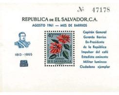 Ref. 616107 * MNH * - EL SALVADOR. 1961. DEATH OF CAPT. GEN. GERARD BARRIOS . MUERTE DEL CAPITAN GENERAL GERARDO BARRIOS - El Salvador