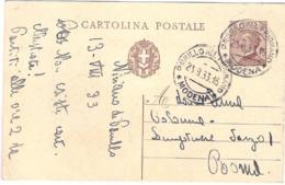 1933-cartolina Postale 30c.Michetti Annullo Di Pavullo Nel Frignano Modena - 1900-44 Vittorio Emanuele III