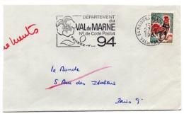 VAL De MARNE - Dépt N° 94 MAISONS ALFORT Ppal 1967 = FLAMME Codée = SECAP  ' N° De CODE POSTAL / PENSEZ-Y ' - Postleitzahl