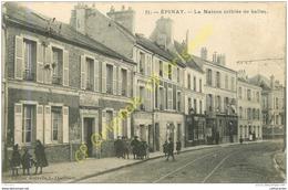 93.  EPINAY SUR SEINE .  La Maison Criblée De Balles . - France