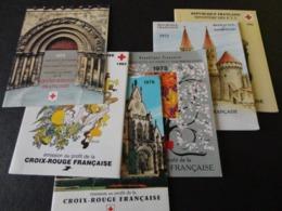 TIMBRE DE FRANCE CARNET CROIX ROUGE 1971/73/75/76/83 - Rotes Kreuz