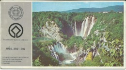 "UNESCO Tourism : Ticket - National Park ,,Plitvice "",Croatia.Yugoslavia - Tickets - Vouchers"