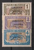 Cameroun - 1916 - N°Yv. 67 - 68 - 69 - Panthère - 3 Valeurs - Neuf Luxe ** / MNH / Postfrisch - Ungebraucht