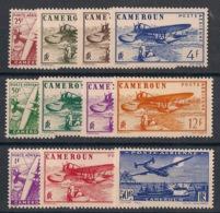 Cameroun - 1941 - Poste Aérienne PA N°Yv. 1 à 11 - Série Complète - Neuf * / MH VF - Camerún (1915-1959)