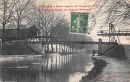 Thème    Navigation Fluviale .Péniche Écluse.Bac  54 Frouard Canal Et Station Du Transporteur Aérien      (voir Scan) - Houseboats