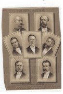 MINISTERE NATIONAL  Belgische Katholieke Regering 1884 - Personnages