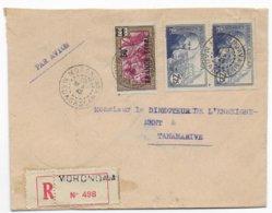 MADAGASCAR - 1943 - FRANCE LIBRE - ENVELOPPE RECOMMANDEE  2° ECH ! De MORONDAVA => TANANARIVE - Covers & Documents