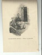La Salvetat  Fileuse A La Quenouille Ecrite 1905 - La Salvetat