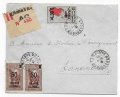 MADAGASCAR - 1943 - FRANCE LIBRE - ENVELOPPE RECOMMANDEE De TAMATAVE AC => TANANARIVE - Covers & Documents