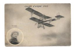 CIRCUIT D'ANJOU 1912 MOINEAU ELD ANGERS CHOLET SAUMUR AVIATION /FREE SHIPPING REGISTERED - Aviateurs