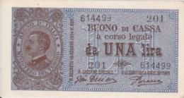 BUONO DI CASSA DA LIRE 1 - 10/07/1921 - MOLTO RARO - SPL - - Italia – 1 Lira