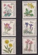 """1960-(MNH=**) Cecoslovacchia S.6v.""""fiori""""cat.Yvert Euro 15 - Nuovi"""