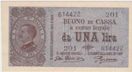 BUONO DI CASSA DA LIRE 1 - 10/07/1921 - MOLTO RARO - SPL ++ - - Italia – 1 Lira