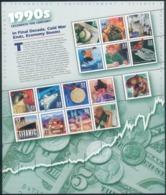 USA Kleinbogen 1990s Celebrate The Century UNITED POST SERVICES Block Mi.-Nr.51 2000 RARE - Nuovi