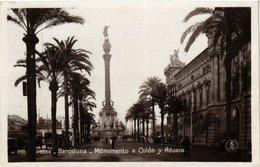 CPA Espagne Barcelona-Monumento A Colon Y Aduana (317790) - Barcelona