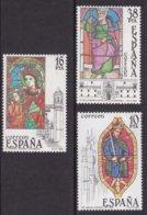"1983-(MNH=**) Spagna S.3v.""Vetrate Di Cattedrali"" - 1931-Today: 2nd Rep - ... Juan Carlos I"