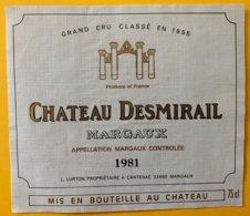 11967 - Château Desmirail 1981 Margaux - Bordeaux