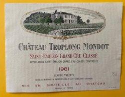 11969 - Château Troplong Mondot 1981 Saint-Emilion - Bordeaux