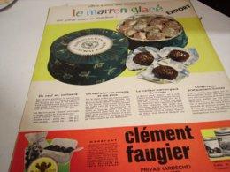 ANCIENNE PUBLICITE MARRON GLACE DE CLEMENT FAUGIER A PRIVAS   1960 - Posters