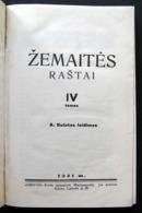 Lithuanian Book / Žemaitės Raštai IV Tomas 1931 - Boeken, Tijdschriften, Stripverhalen