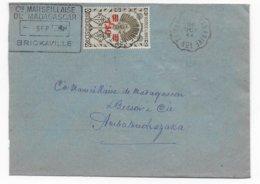 MADAGASCAR - 1944 - FRANCE LIBRE - ENVELOPPE De BRICKAVILLE Avec AMBULANT TAMATAVE à TANANARIVE N° 1 ! - Madagascar (1889-1960)